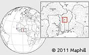 Blank Location Map of Djougou Urban