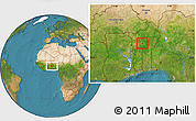 Satellite Location Map of Djougou Urban