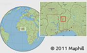 Savanna Style Location Map of Djougou Urban