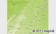 Physical 3D Map of Kerou
