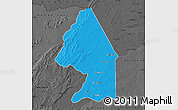 Political Map of Kerou, darken, desaturated