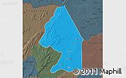 Political Map of Kerou, darken, semi-desaturated