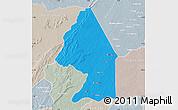 Political Map of Kerou, lighten, semi-desaturated