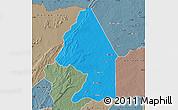 Political Map of Kerou, semi-desaturated