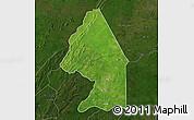 Satellite Map of Kerou, darken