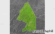 Satellite Map of Kerou, desaturated
