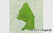 Satellite Map of Kerou, lighten