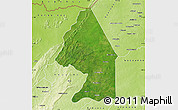 Satellite Map of Kerou, physical outside