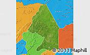 Satellite Map of Kerou, political outside