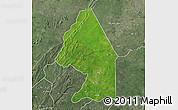 Satellite Map of Kerou, semi-desaturated