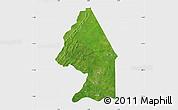 Satellite Map of Kerou, single color outside