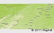 Physical Panoramic Map of Kerou