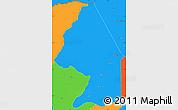 Political Simple Map of Kerou