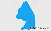 Political Simple Map of Kerou, single color outside
