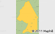 Savanna Style Simple Map of Kerou