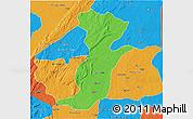 Political 3D Map of Kouande