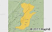 Savanna Style 3D Map of Kouande