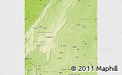 Physical Map of Kouande
