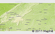 Physical Panoramic Map of Kouande