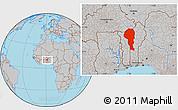 Gray Location Map of Atakora