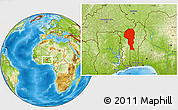 Physical Location Map of Atakora