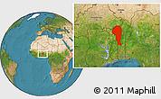 Satellite Location Map of Atakora