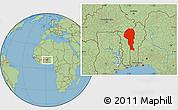 Savanna Style Location Map of Atakora