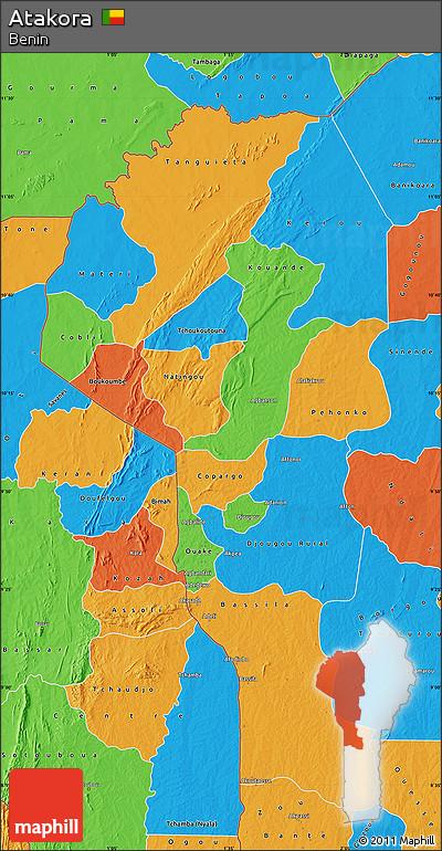 Political Map of Atakora