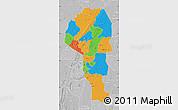 Political Map of Atakora, lighten, desaturated