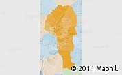 Political Shades Map of Atakora, lighten