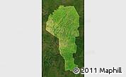 Satellite Map of Atakora, darken