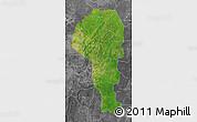 Satellite Map of Atakora, desaturated