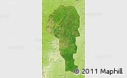 Satellite Map of Atakora, physical outside