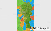 Satellite Map of Atakora, political outside