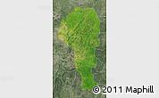 Satellite Map of Atakora, semi-desaturated
