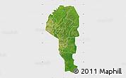 Satellite Map of Atakora, single color outside