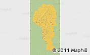 Savanna Style Map of Atakora, single color outside