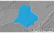 Political 3D Map of Materi, desaturated