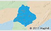 Political 3D Map of Materi, lighten