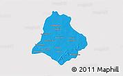 Political 3D Map of Materi, single color outside