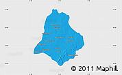 Political Map of Materi, single color outside