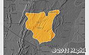 Political Map of Natingou, darken, desaturated