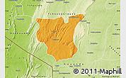 Political Map of Natingou, physical outside