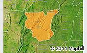 Political Map of Natingou, satellite outside