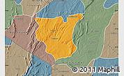 Political Map of Natingou, semi-desaturated