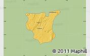 Savanna Style Map of Natingou, single color outside