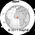 Outline Map of Natingou
