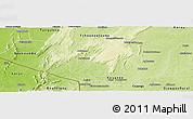 Physical Panoramic Map of Natingou
