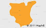 Political Simple Map of Natingou, single color outside