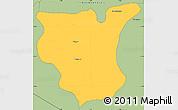 Savanna Style Simple Map of Natingou
